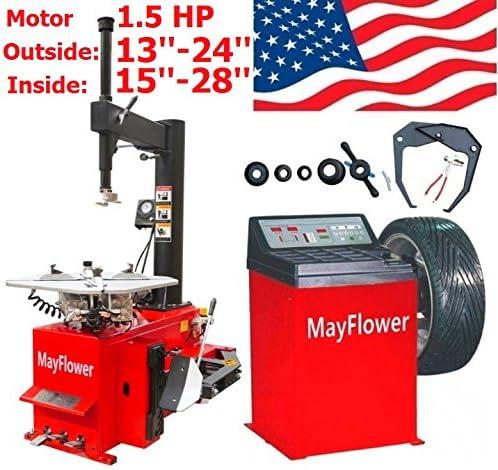 Mayflower - 1.5 HP Tire Changer Balancer Machine Combo