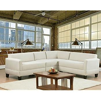 Carolina Accents Makenzie 4 Piece Sectional Sofa Set, Natural