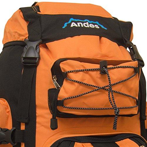 Hiking 120L Bag Luggage Andes Rucksack Backpack Bright Camping Large Extra Orange Ramada qUnSa5wHI