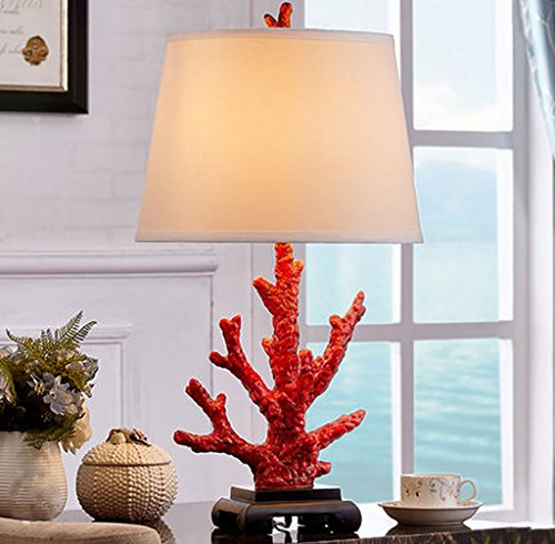 (Chandeliers Creative Coral Living Room Table Lamp RedAmerican Country Table Lamp Bedroom Bedside Lamp Modern European Table)
