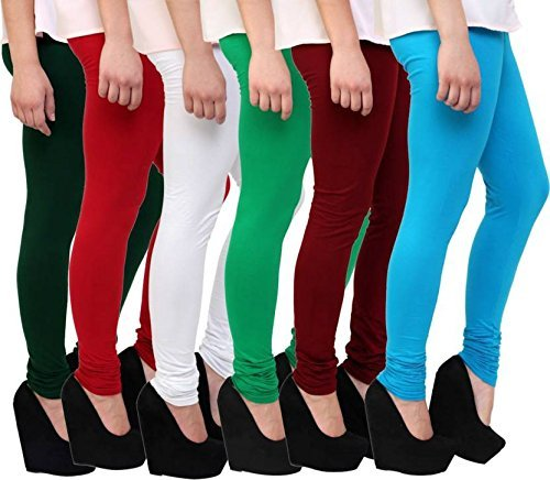 ef4567877be5a Plain Designer Pure 100% Summer Leggings for Daily Wear Stechable Use  (Combo of 6 leggings Wholesale rate) (Multi, Free Size): Amazon.in:  Clothing & ...