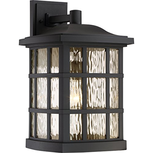 Quoizel SNN8411K Stonington 1-Light Outdoor Lantern, Mystic Black Review