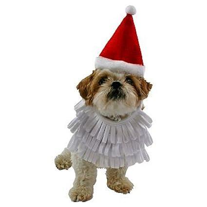 fac8e2883bd6f Amazon.com   Santa Hat and Beard Christmas Pet Costume XL   Pet Supplies