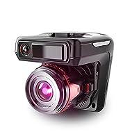 Caméra Embarquée Caméra Voiture HD1080 HD 140 ° Super grand angle Vision nocturne Moniteur de stationnement à double objectif Enregistreur de conduite