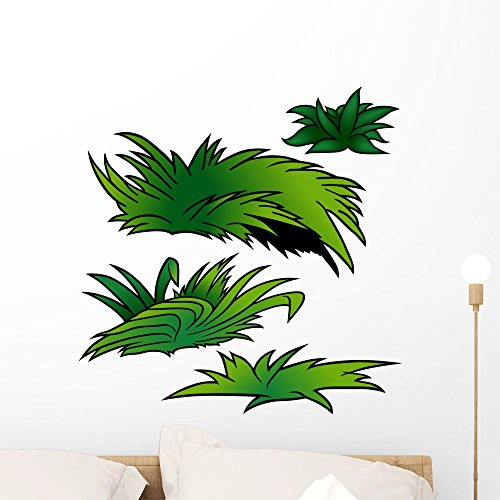 - Wallmonkeys Grass Set D Colored Illustration Wall Decal Peel and Stick Graphic WM107470 (24 in H x 24 in W)