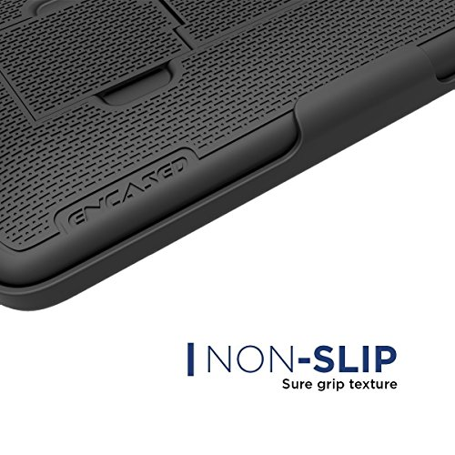 Encased iPhone 7 Plus 5.5'' Belt Clip Case, (Ultra Thin) Secure-fit Cover w/ ClikLock Holster (Black) by Encased (Image #1)