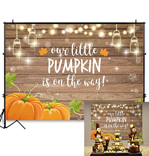 Fall Gender Reveal Ideas (Allenjoy Pumpkin Rustic Wood Baby Shower Backdrop Autumn Our Little Pumpkin Boy Girl is On The Way Welcome Party Decorations Baby is Brewing Theme Cake Table Banner 7x5ft Background Photo)
