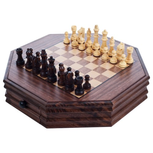 Octagonal Chess and Checkers - Army Chess Set