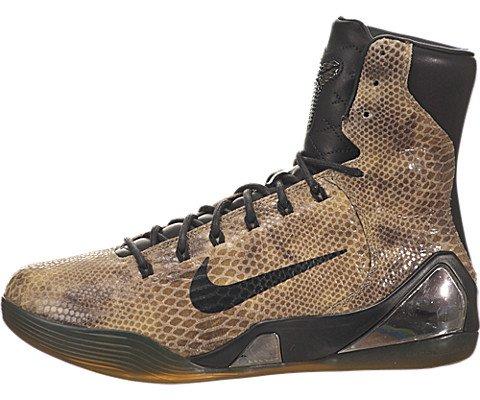 Nike Mens Kobe IX High Ext Qs Basketball Shoe-Black/Black-9
