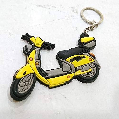 (Soft Rubber Keyring Keychain Keytag For Aftermarket Universal Motorcycle Bike Accessories For Example Sport Bike Street Bike Scooter Motor Vintage Old School Style Rider Driver Enthusiasts Collection)