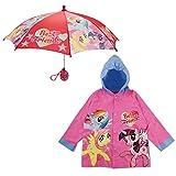 Hasbro Little Girls My Little Pony Best Friends Slicker and Umbrella Rainwear Set, Pink, Age 6-7