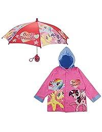 Hasbro Little Girls My Little Pony - Conjunto de Ropa de Lluvia y Paraguas, 2 – 7 años