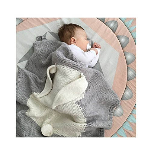 Kemier Star Baby Knitted Cotton Blanket, 30