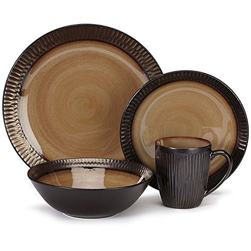 Cuisinart CDST1-S4G3 Stoneware Alba Collection 16-Piece Dinn
