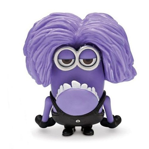 Thinkway Toys Despicable Me 2 Movie Two Eyed Purple Minion Figure]()
