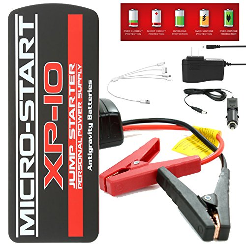 Anti-Gravity MICRO START Series XP1 XP3 XP10 XP10HD Lithium Portable Car, ATV, Motorcycle, Watercraft Jump Starter, Power Bank and Flashlight (XP-10)