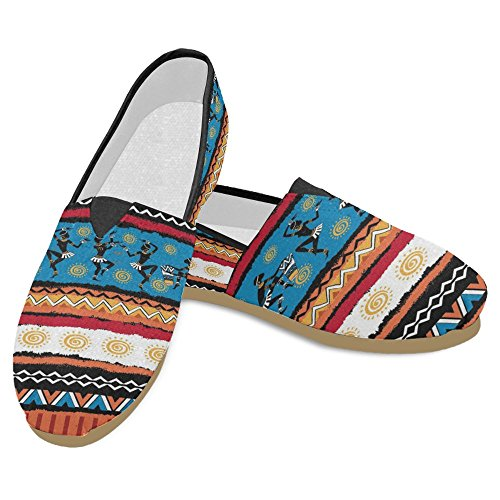 InterestPrint Womens Loafers Classic Casual Canvas Slip On Fashion Shoes Sneakers Flats Multi 26 1kjmEomxG