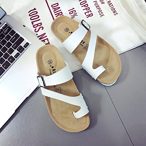 Nuevo Ladies Shoes Slippers Cork 39 Pinch Beach Casual Black White Sandalias XING 38 Slippers Mujeres Antideslizante GUANG X5qwqA