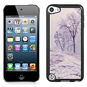NEW Unique Custom Designed iPod Touch 5 Phone Case With Winter Path Trees Landscape_Black Phone Case