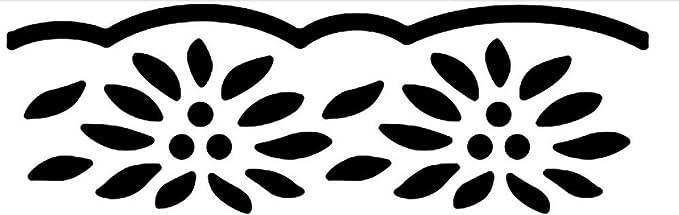 Xcut Fleur napperon décoratif détaillé Border Punch Noir//Blanc