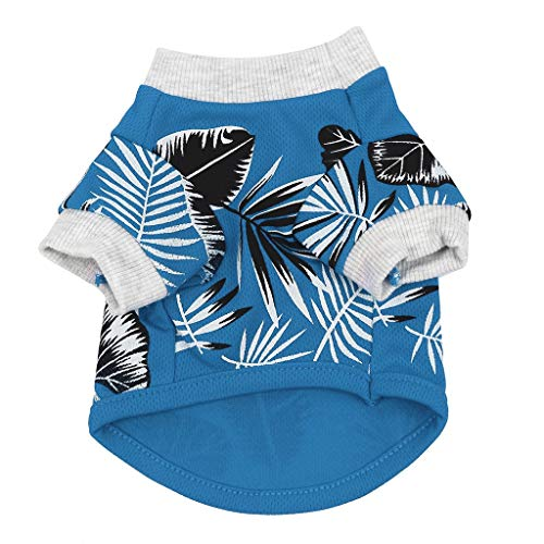 vmree Summer Dog Puppy Camp Western Shirt Clothes Polo T-Shirt Pet Cool Cotton Vest Outfit Breathable Short Sleeve Waistcoat Coats Tops Apparel ()