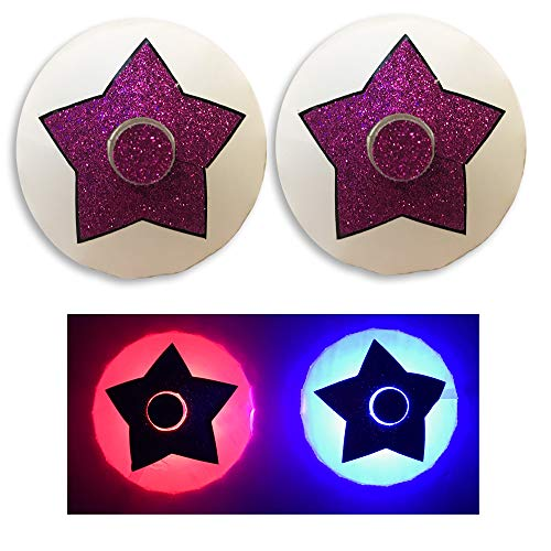Sasswear Pink Star Light Up LED Pasties Nipple Covers ()