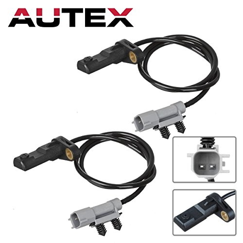 AUTEX 2PCS ABS Wheel Speed Sensor Rear Left & Right ALS1401 compatible with 2006-2010 Jeep Commander 3.7L 4.7L 5.7L/2005-2010 Jeep Grand Cherokee 3.7L 4.7L 5.7L 3.0L (Grand Cherokee Speed Sensor)