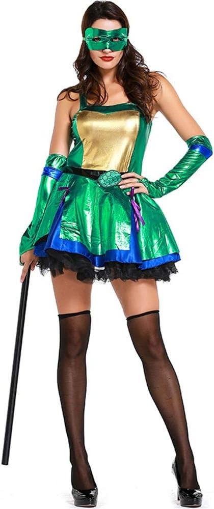 QAR Tortuga Ninja Adolescente Verde Disfraz De Cosplay Traje De ...