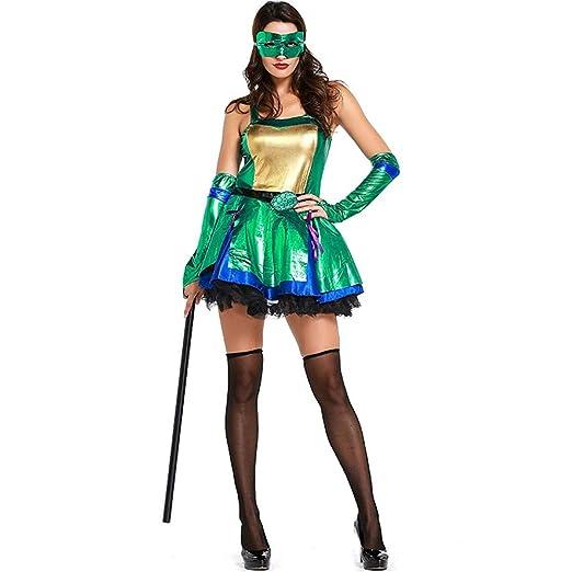 KTYX Tortuga Ninja Adolescente Verde Disfraz De Cosplay ...