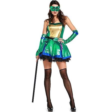 QAR Tortuga Ninja Adolescente Verde Disfraz De Cosplay Traje ...