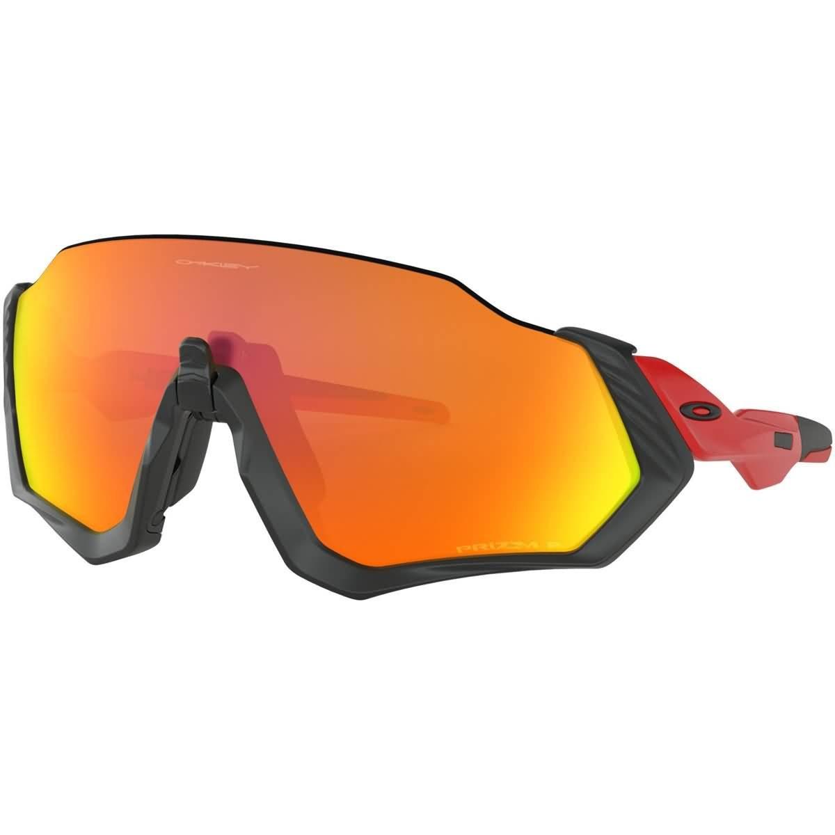 6bec88d012edc Amazon.com  Oakley Men s Flight Jacket Polarized Iridium Rectangular  Sunglasses