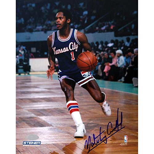 Nate Archibald Kansas City Kings Against Boston Celtics Signed 16X20 w HOF 91Insc.