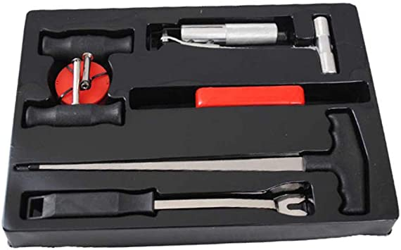 7 tlg Reparaturset Windschutzscheibe  Scheiben Autoglas Werkzeug Set KFZ Ausbau