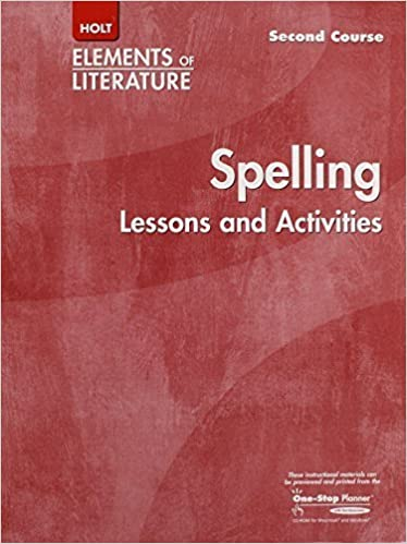Holt Elements of Literature Second Course Spelling Lessons and Activities, Grade 8 by Bill Wahlgren(November 18, 2003)