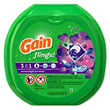 Gain Flings Laundry Detergent Pacs, Moonlight Breeze Scent, 72 Count - Packaging May Vary