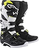 Alpinestars Tech 7 Motocross Off-Road Motorcycle Boots, Black/White, Men's Size 10
