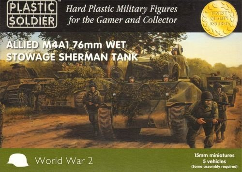 Plastic Soldier 15mm Allied M4A1 76mm Wet Stowage by Plastic Soldier Company ()