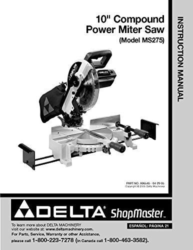 ound Power Miter Saw Instruction Manual Reprint ()