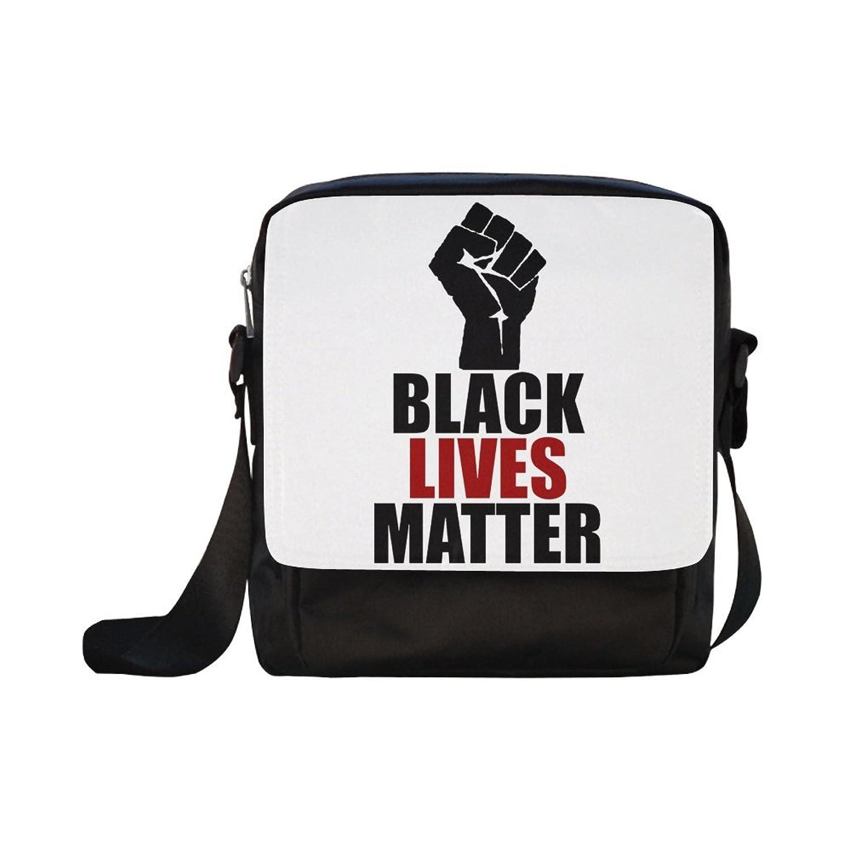 DOROT Black Lives Matter Unisex Nylon Waterproof Material Black Cross-body Nylon Bags Shoulder Bag