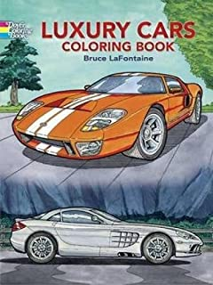 luxury cars coloring book dover history coloring book
