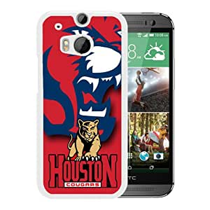 Houston Cougars 5 White Hard Shell Phone Case For HTC ONE M8