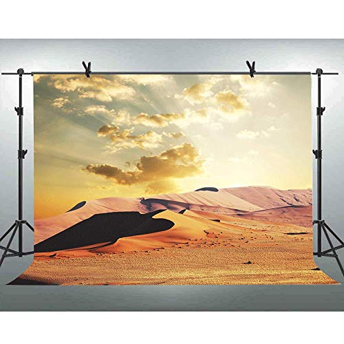 FLASIY 10x7FT Desert Hill Photography Backdrop White Clouds Nature Landscape Photo Background for Photographer YouTube Photo Video Studio Props PAY070