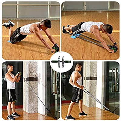 Garneck Push up Handles S-Type Abdominal Exercises Trainer Weight Training Equipment for Home Floor Workouts Muscle Training Tool