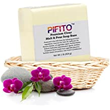 Pifito Premium Clear Melt and Pour Soap Base (2 lb) - Natural Vegetable Glycerin Base - Excellent Hand Soap Base Making Supplies