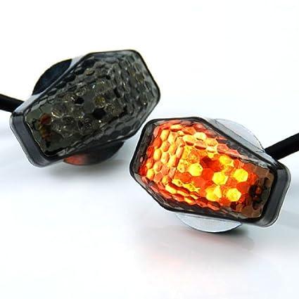 JDM Mini Smoke Flush Mount Amber LED Turn Signal For Suzuki GSX-R600 R750 R1000 Katana