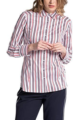 Striped Fit Blouse Sleeve Long Eterna Slim qwZFUpA