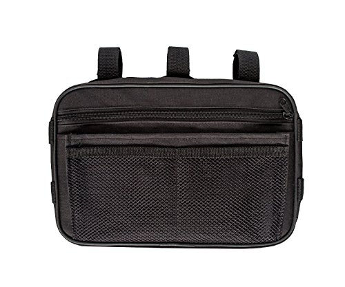 MDSTOP Multi-purpose Storage Passenger Grab Handles Accessory Storage Pouch Organizer Bag for Jeep Wrangler Mesh Polyester Dash Tools Bags (Black)