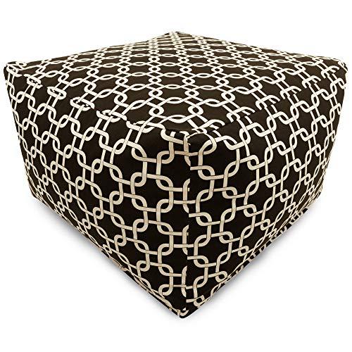 - Majestic Home Goods Black Links Indoor/Outdoor Ottoman, Large