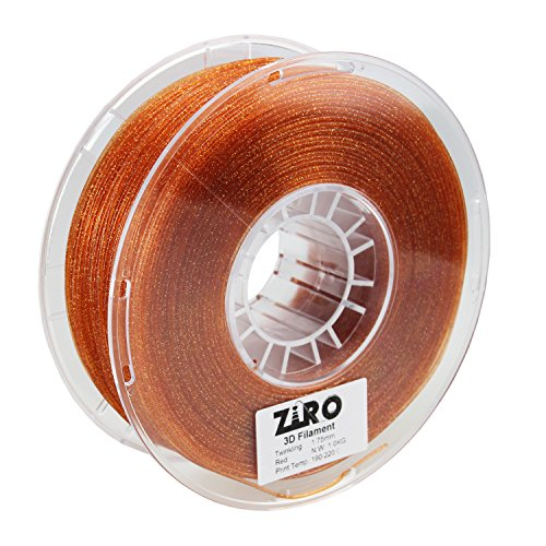 UPC 713145908048, ZIRO 3D Printer Filament PLA 1.75mm Twinkling Color Series 1KG(2.2lbs), Dimensional Accuracy +/- 0.05mm, Red