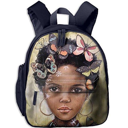 Kindergarten Backpack African American Girl Children School Bag -